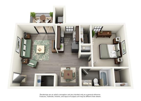 Calloway at Las Colinas Apartment Homes - 1 Bedroom 1 Bath Apartment