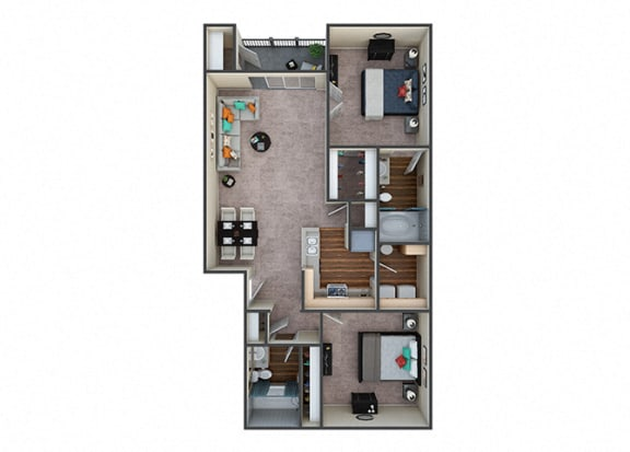 Floor Plan  Indigo Creek|Tranquility|2Bed/2Bath