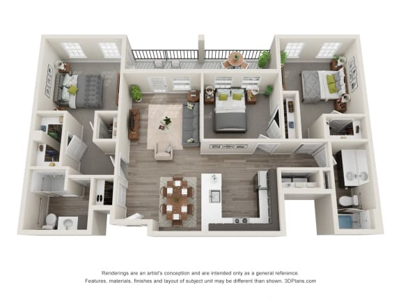 3 Bed 2 Bath Floor Plan at 24 at Bloomfield, Bloomfield Hills, 48302