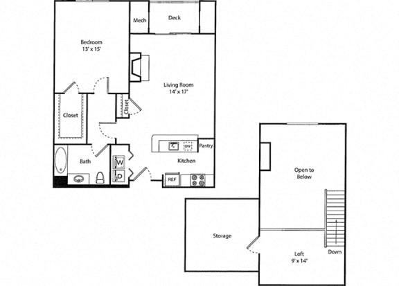 Davenport Loft - 1x1 Floor Plan at Parc Grove, Connecticut, 06901