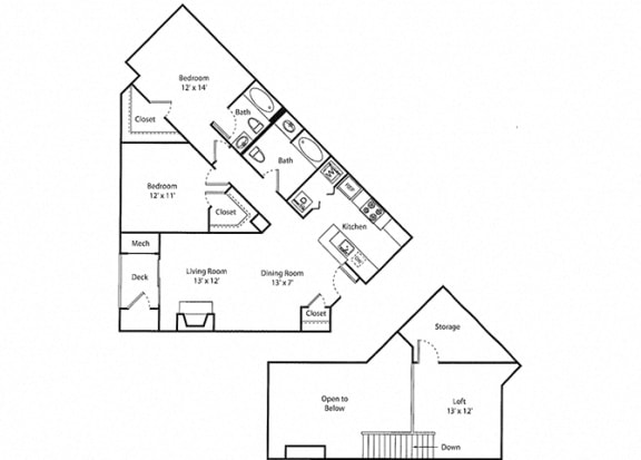 Greyrock Loft - 2x2 Floor Plan at Parc Grove, Stamford