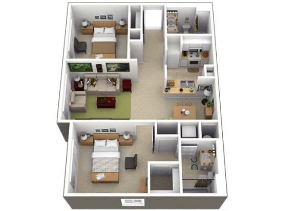 Floor Plan  B1 Floorplan at Brenton at Abbey Park