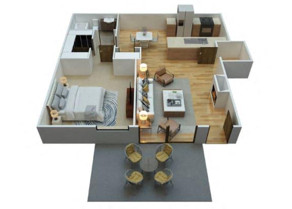 Floor Plan  A1 Floorplan at Woodcreek Apartments in Las Vegas NV
