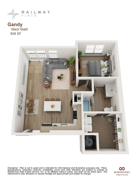 Floor Plan at Railway Flats