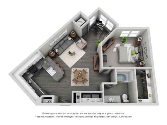 Floor Plan  1d10 Floor Plan at 1400 Chestnut, Tennessee, 37402