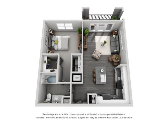 Floor Plan  1e10 Floor Plan at 1400 Chestnut, Chattanooga, TN, 37402