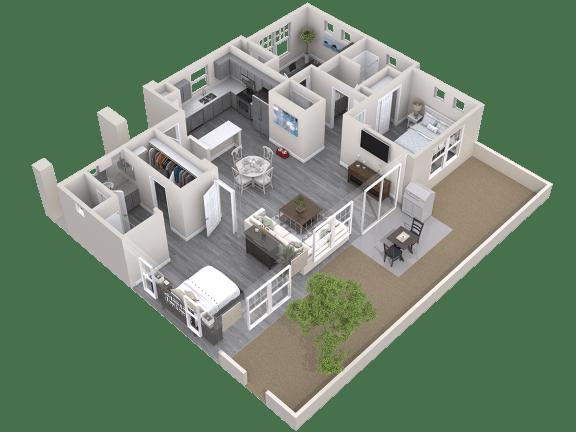 The Haven Floor Plan at Avilla Prairie Center, Brighton, Colorado