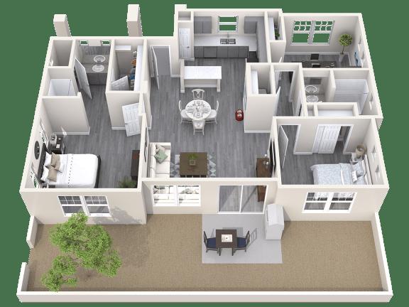 The Haven Floor Plan at Avilla Prairie Center, Brighton