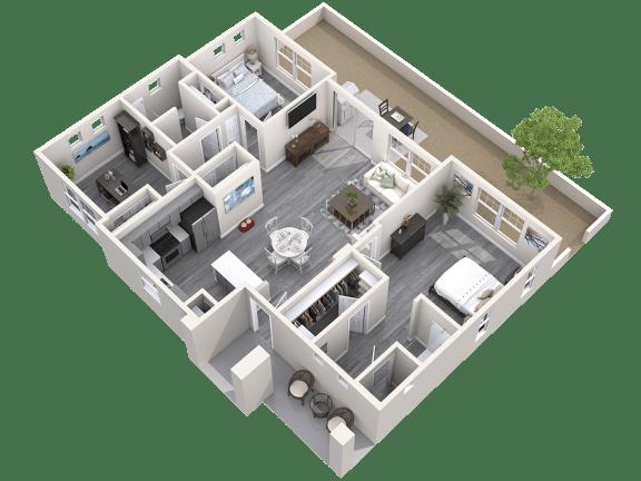 The Haven Floor Plan at Avilla Prairie Center, Brighton, 80601