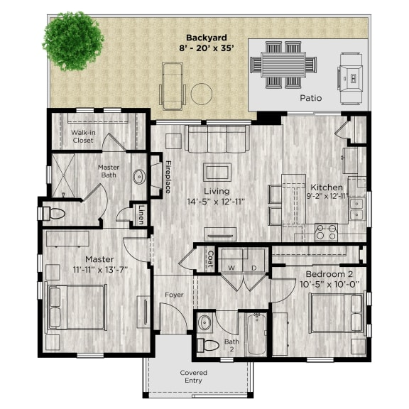 The Retreat Floor Plan at Avilla Prairie Center, Brighton