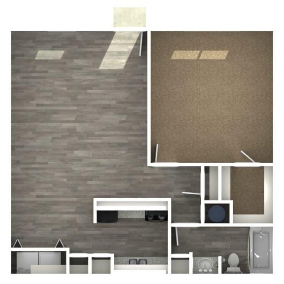 Floor Plan  1 Bedroom | 1 Bath E