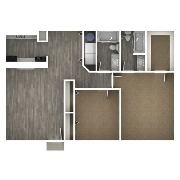 Floor Plan  2 Bedroom | 2 Bath