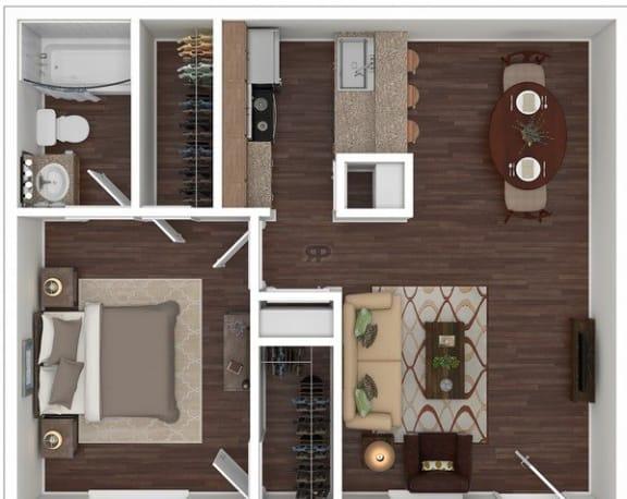 Floor Plan  1 Bed | 1 Bath C
