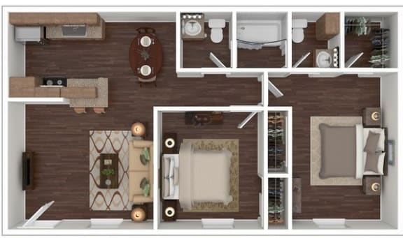 Floor Plan  2 Bed | 1.5 Bath