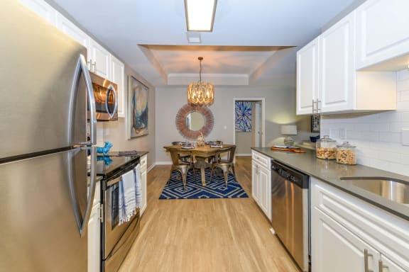 Refrigerator And Kitchen Appliances at The Bluestone Apartments, Bluffton, South Carolina