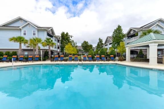 Relaxing Swimming Pool at The Bluestone Apartments, South Carolina