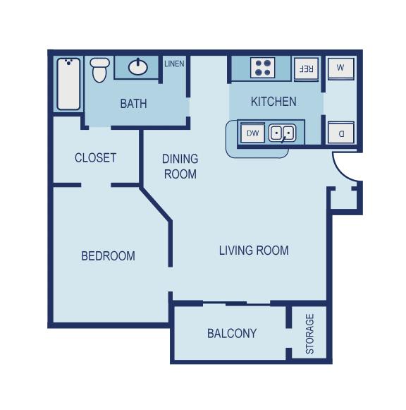 A1 Floor Plan at The Jax Apartments, Clear Property Management, San Antonio, TX