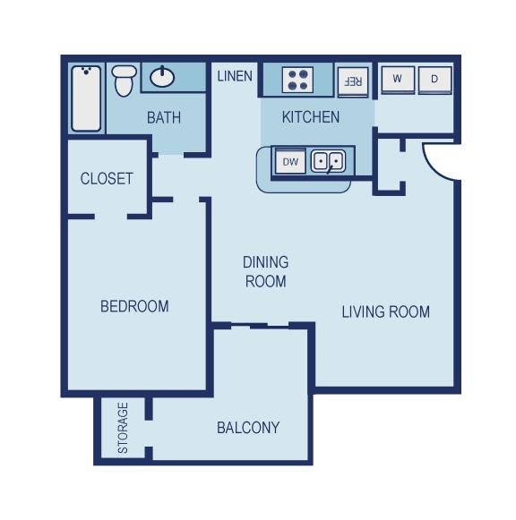 A2 Floor Plan at The Jax Apartments, Clear Property Management, San Antonio, 78230