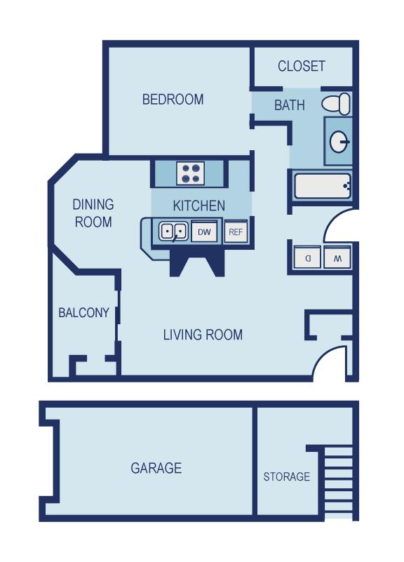 A3 Floor Plan at The Jax Apartments, Clear Property Management, San Antonio