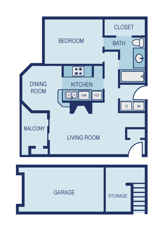 A3 Floor Plan at The Jax Apartments, Clear Property Management, San Antonio, Texas
