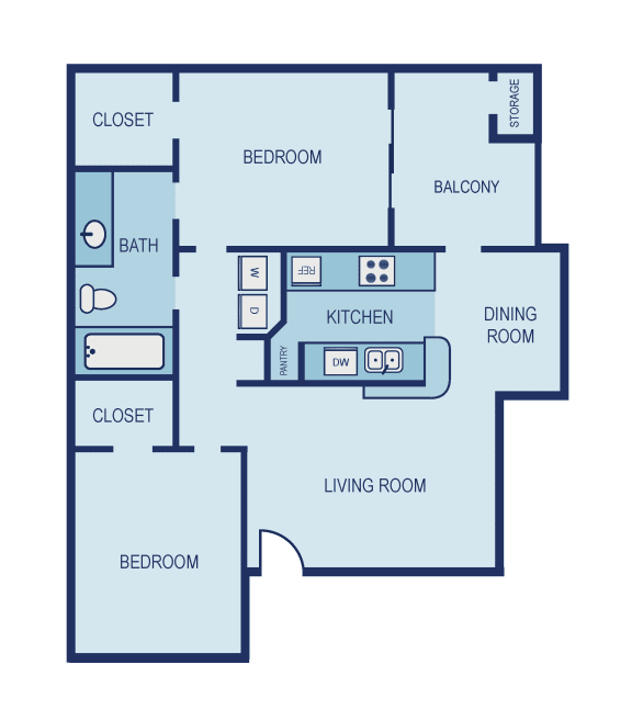 B1 Floor Plan at The Jax Apartments, Clear Property Management, Texas