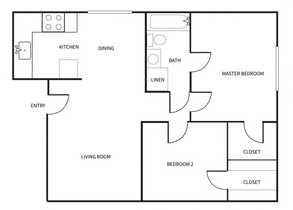 Floor Plan  B1 floor plan at Park Villas in National City, CA CA