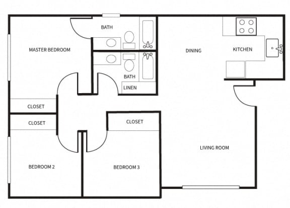 Floor Plan  C1 floor plan at Park Villas in National City, CA CA