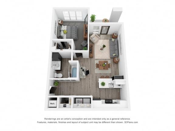 Blue Juniper (ADA) Floor Plan