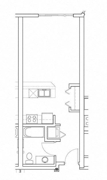 Reality – 0 Bedroom 1 Bath Floor Plan Layout – 485 Square Feet