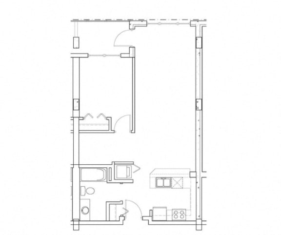Refresh – 1 Bedroom 1 Bath Floor Plan Layout – 775 Square Feet