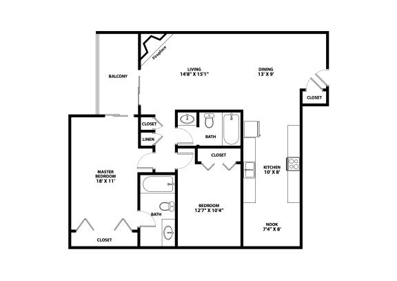 Nine Mile Floor Plan