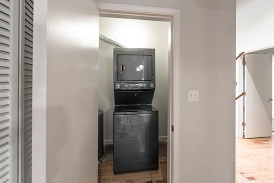 In-Unit Washer and Dryer at the Lofts at Gin Alley, Chicago, IL 60607