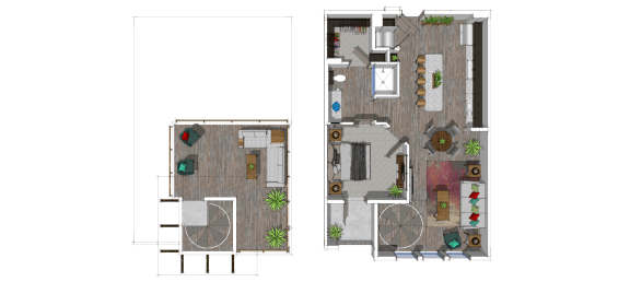 One bedroom one bathroom at The District at Scottsdale_luxury_apartments_luxury_apartments