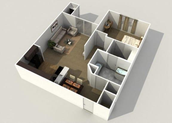 aspen 1 bedroom 1 bathroom floor plan