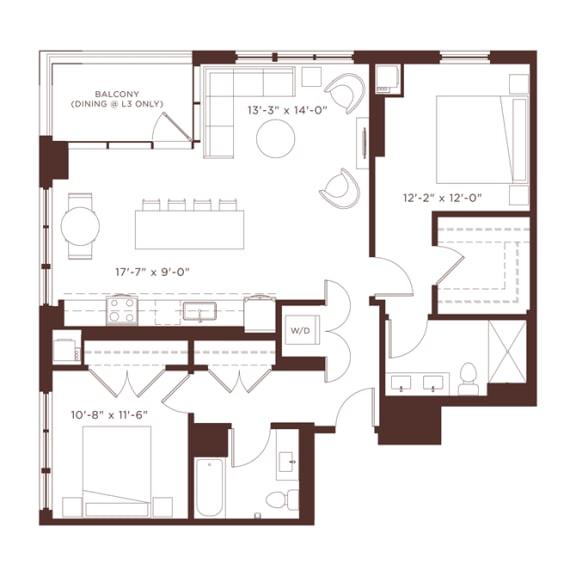 Floor Plan  15 Floorplan at North+Vine, Chicago, IL