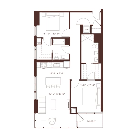 Floor Plan  17 floorplan at North+Vine, Chicago