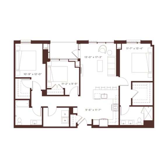 Floor Plan  24 floorplan at North+Vine, Chicago