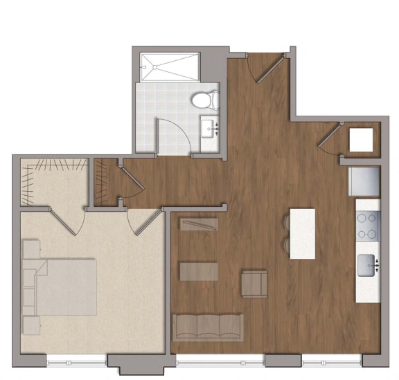 A4 Floor Plan Layout at The George, Wheaton, Maryland