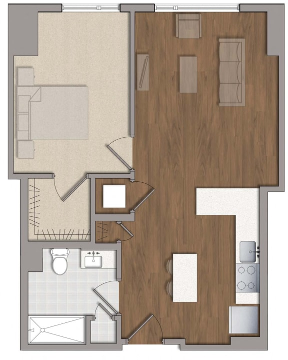 A5 Floor Plan Layout at The George, Maryland