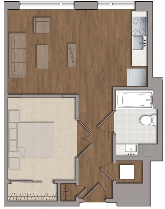 A9 Floor Plan at The George, Maryland