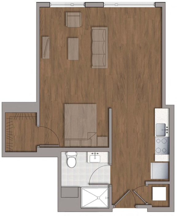 S3 Floor Plan Layout at The George, Wheaton, 20902