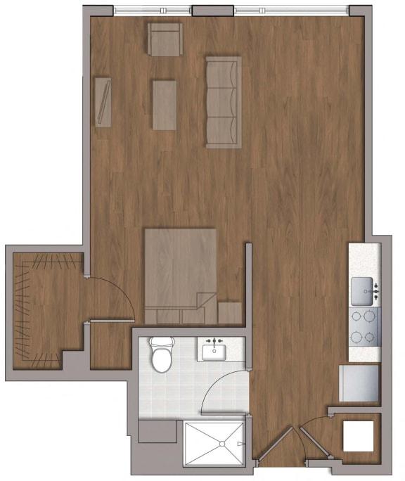 S3 Distinctive Floor Plan at The George, Wheaton, Maryland