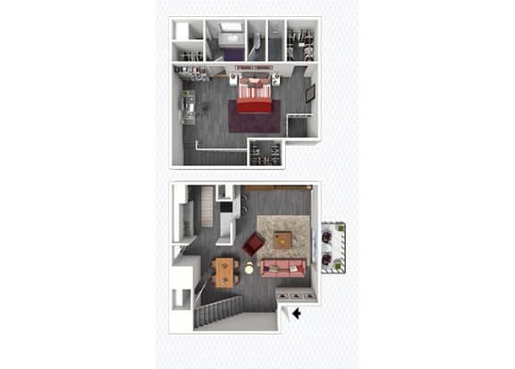 A3 Floor Plan at The Alara, Houston, TX, 77060