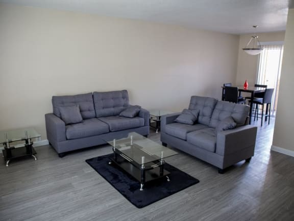 Living Room Interior at The Alara, Houston, TX