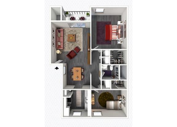 Floor Plan  B1 Floor Plan at The Alara, Texas, 77060