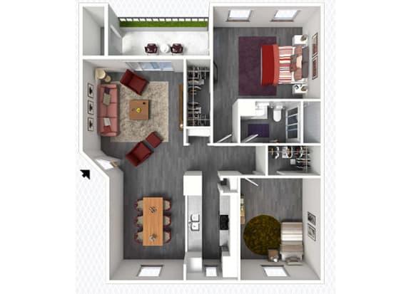 B3 Floor Plan at The Alara, Houston