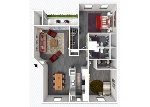 Floor Plan  B6 Floor Plan at The Alara, Houston, TX