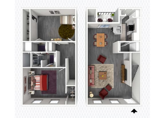 B7 Floor Plan at The Alara, Houston, TX, 77060
