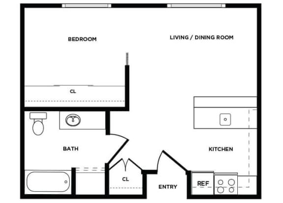 Floor Plan  A3 floor plan at Boardwalk Apartments