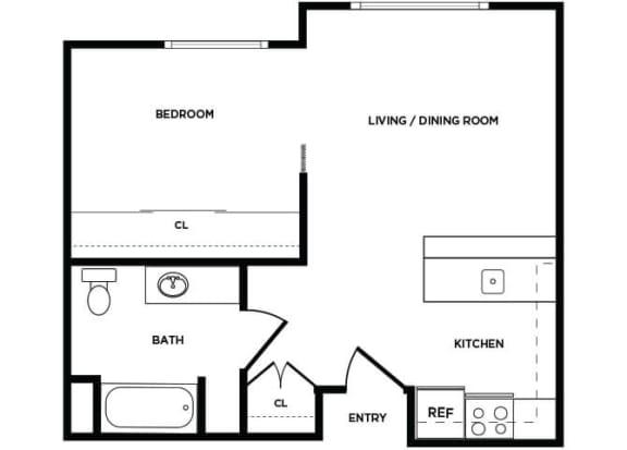 Floor Plan  A4 floor plan at Boardwalk Apartments